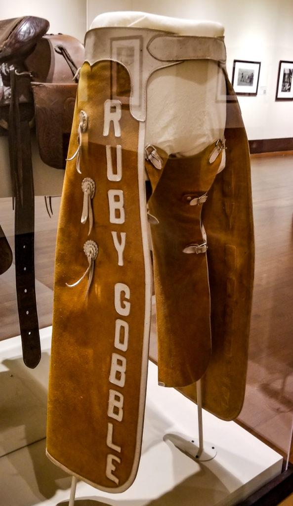 Chaps worn by Ruby Gobble, 1950s