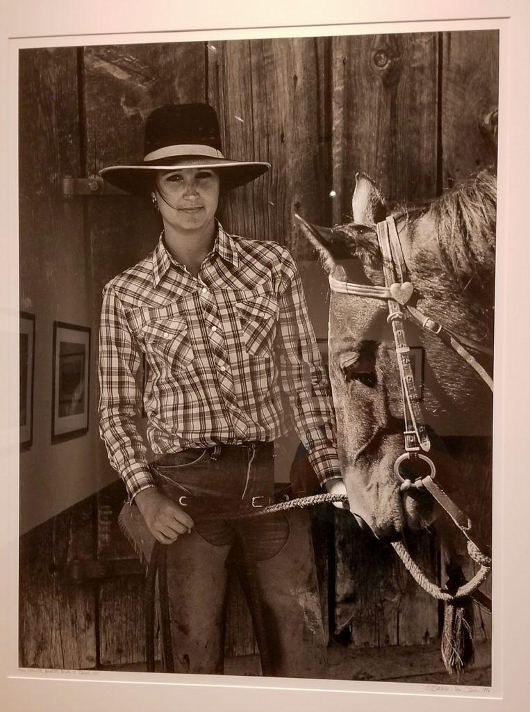 Toni Schutte, Quarter Circle S Ranch, NV, Portrait with Horse's Head, 1996