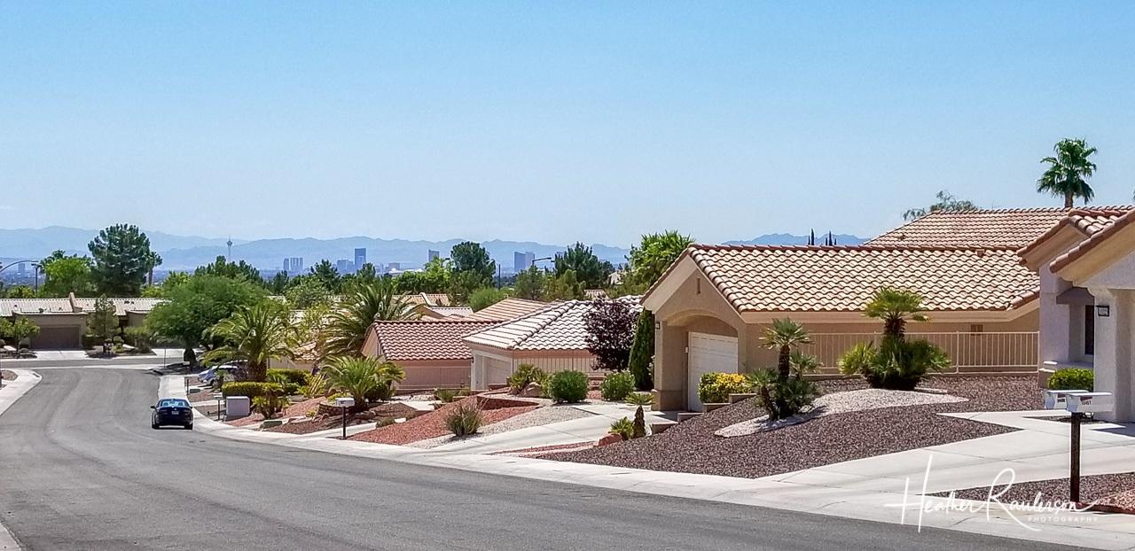 View of the Las Vegas Strip in a Summerlin neighborhood